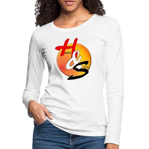 Rcahas logo gold - Women's Premium Slim Fit Long Sleeve T-Shirt