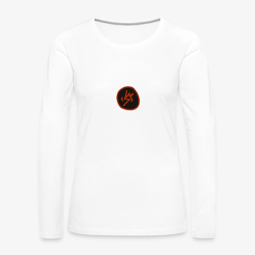 SCRATCHED MASK MK III - Women's Premium Slim Fit Long Sleeve T-Shirt