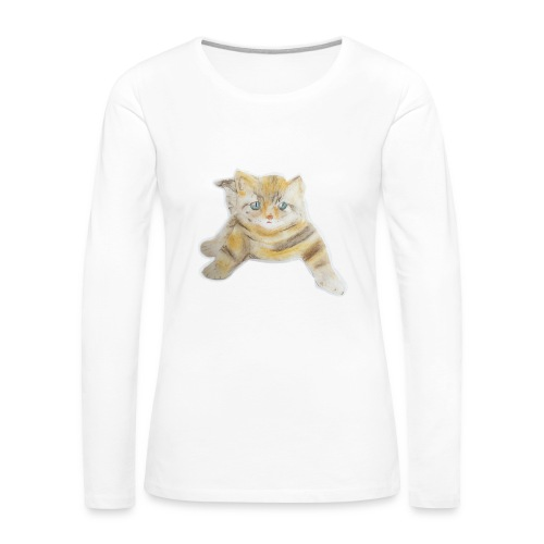 sad boy - Women's Premium Slim Fit Long Sleeve T-Shirt