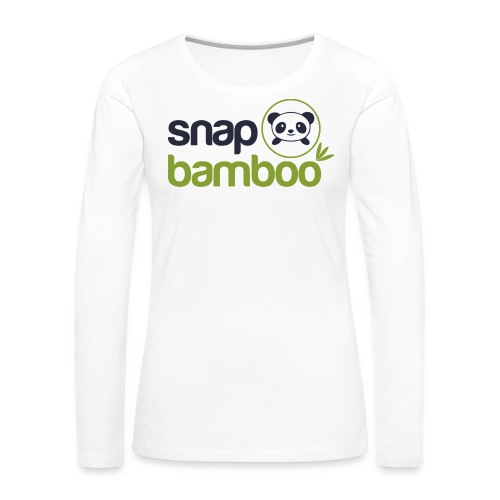 Snap Bamboo Square Logo Branded - Women's Premium Long Sleeve T-Shirt