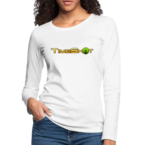 TimeShot Logo Text - Women's Premium Slim Fit Long Sleeve T-Shirt