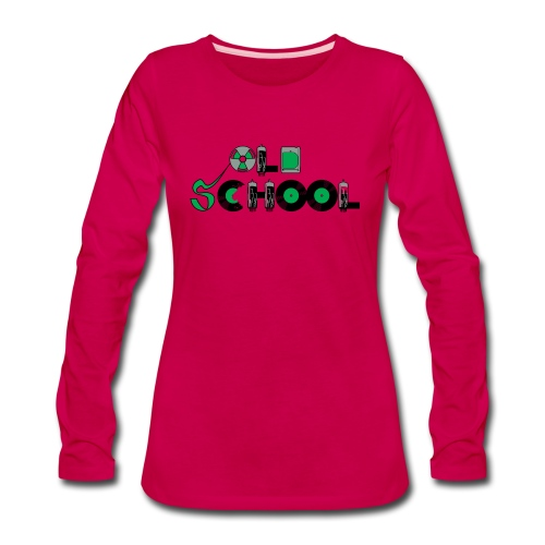 Old School Music - Women's Premium Long Sleeve T-Shirt