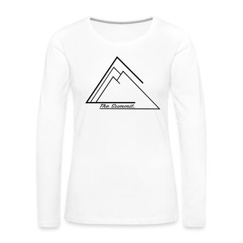 The Summit Phone case - Women's Premium Long Sleeve T-Shirt