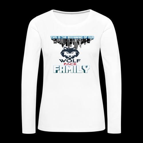 We Are Linked As One Big WolfPack Family - Women's Premium Long Sleeve T-Shirt