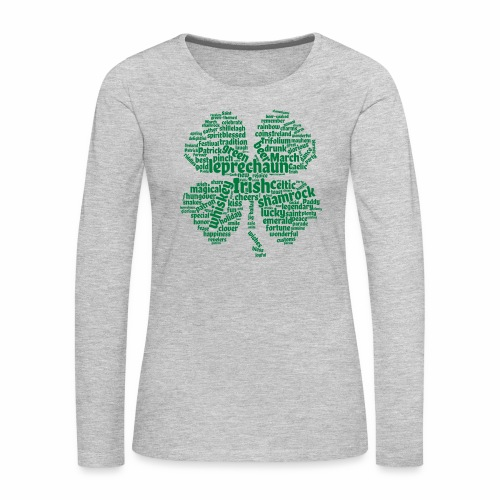 Shamrock Word Cloud - Women's Premium Long Sleeve T-Shirt
