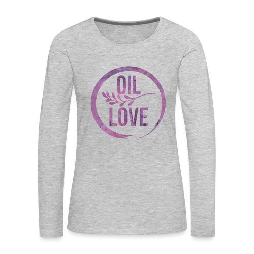 Oil Love Purple - Women's Premium Long Sleeve T-Shirt