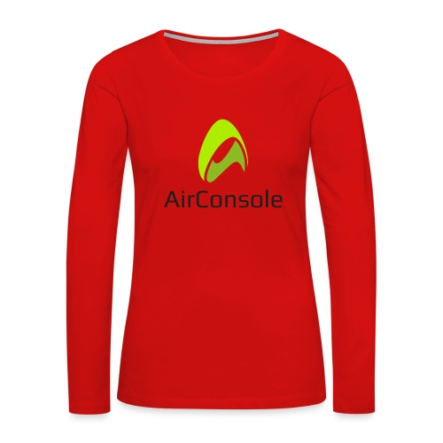 New Logo AirConsole - Women's Premium Slim Fit Long Sleeve T-Shirt