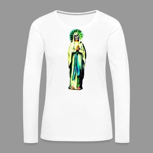 Cult Of Santa Muerte - Women's Premium Slim Fit Long Sleeve T-Shirt