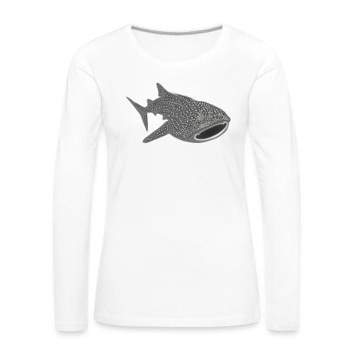 save the whale shark sharks fish dive diver diving - Women's Premium Slim Fit Long Sleeve T-Shirt