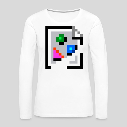 Broken Graphic / Missing image icon Mug - Women's Premium Slim Fit Long Sleeve T-Shirt