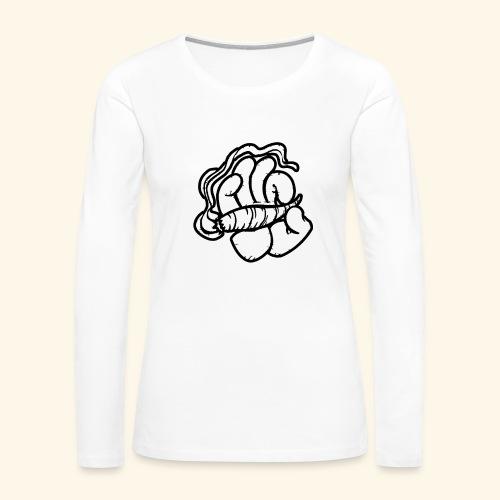 SMOKING HAND - HOODIE / SHIRT - Women's Premium Long Sleeve T-Shirt