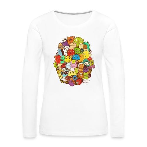 Doodle for a poodle - Women's Premium Long Sleeve T-Shirt