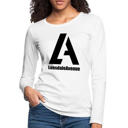 Lonsdale Avenue Logo Black Text - Women's Premium Slim Fit Long Sleeve T-Shirt