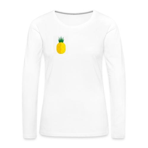 Pixel looking Pineapple - Women's Premium Long Sleeve T-Shirt