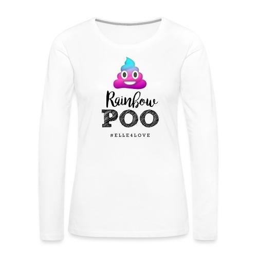 Rainbow Poo - Women's Premium Long Sleeve T-Shirt