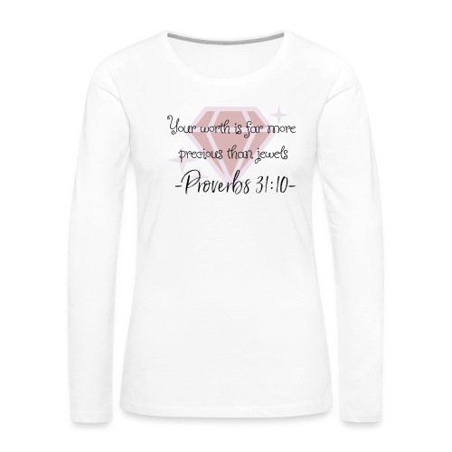Your Worth Collection - Women's Premium Long Sleeve T-Shirt