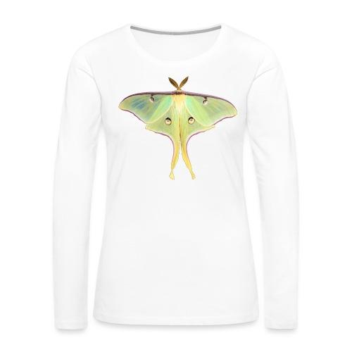 GREEN LUNA MOTH - Women's Premium Long Sleeve T-Shirt