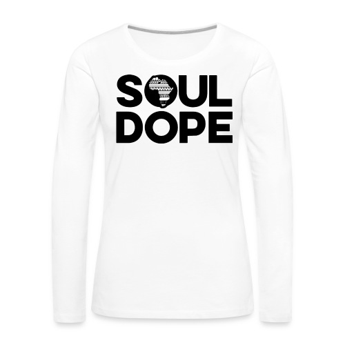 souldope Black Logo - Women's Premium Long Sleeve T-Shirt