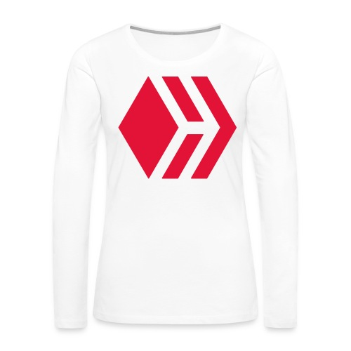 Hive logo - Women's Premium Slim Fit Long Sleeve T-Shirt