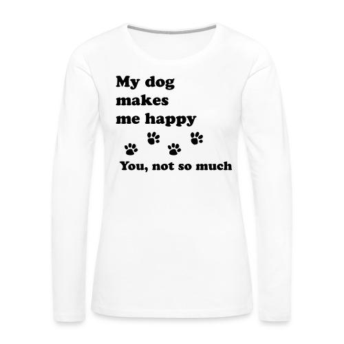 love dog 2 - Women's Premium Slim Fit Long Sleeve T-Shirt