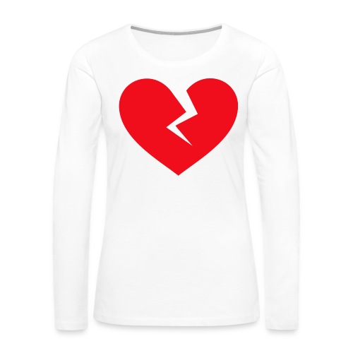 Broken Heart - Women's Premium Slim Fit Long Sleeve T-Shirt