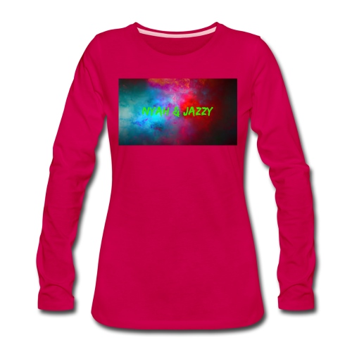 NYAH AND JAZZY - Women's Premium Slim Fit Long Sleeve T-Shirt