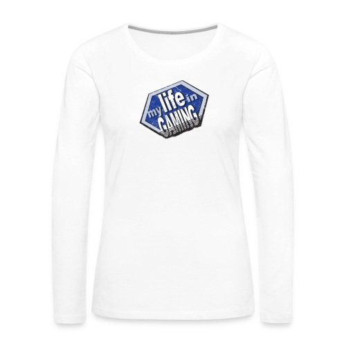 My Life In Gaming sticker - Women's Premium Slim Fit Long Sleeve T-Shirt