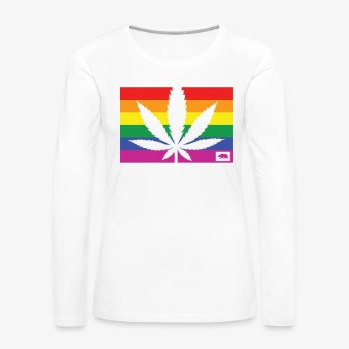 California Pride - Women's Premium Slim Fit Long Sleeve T-Shirt