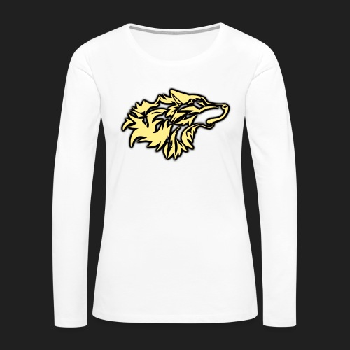 wolfepacklogobeige png - Women's Premium Long Sleeve T-Shirt