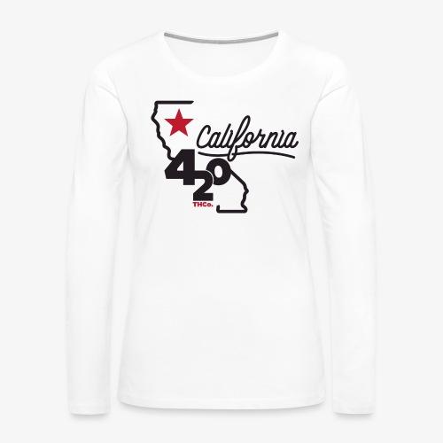California 420 - Women's Premium Slim Fit Long Sleeve T-Shirt