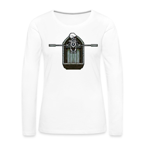 Ghost boat - Women's Premium Slim Fit Long Sleeve T-Shirt