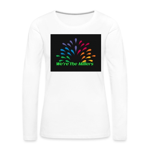 We're the Millers logo 1 - Women's Premium Slim Fit Long Sleeve T-Shirt