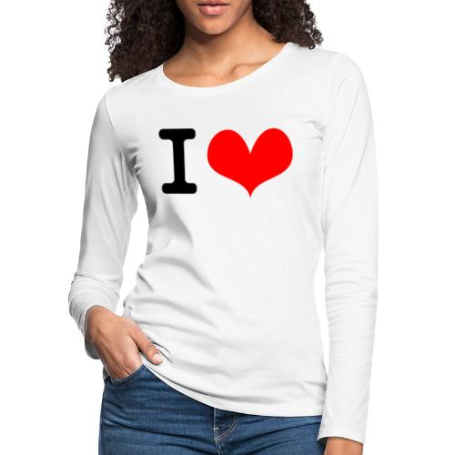 I Love what - Women's Premium Slim Fit Long Sleeve T-Shirt