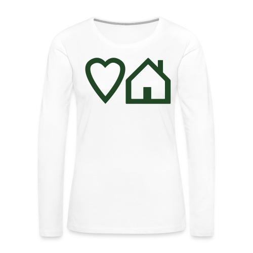 ts-3-love-house-music - Women's Premium Slim Fit Long Sleeve T-Shirt