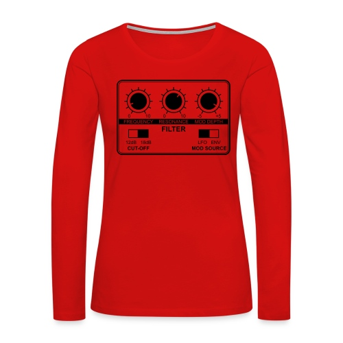 Synth Filter with Knobs - Women's Premium Slim Fit Long Sleeve T-Shirt