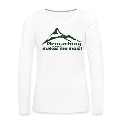 Geocaching in the Rain - Women's Premium Long Sleeve T-Shirt
