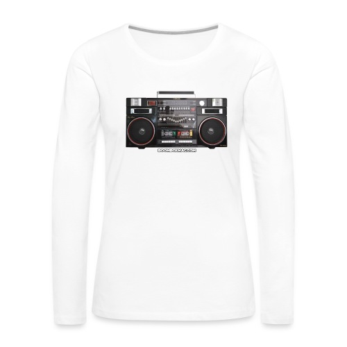 Helix HX 4700 Boombox Magazine T-Shirt - Women's Premium Slim Fit Long Sleeve T-Shirt