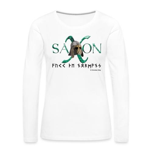 Saxon Pride - Women's Premium Slim Fit Long Sleeve T-Shirt