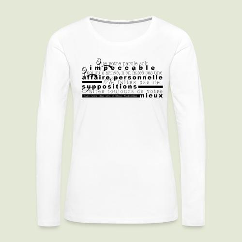 4 Accords Toltèques - Women's Premium Slim Fit Long Sleeve T-Shirt