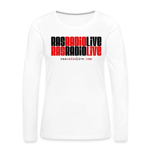 rasradiolive png - Women's Premium Slim Fit Long Sleeve T-Shirt