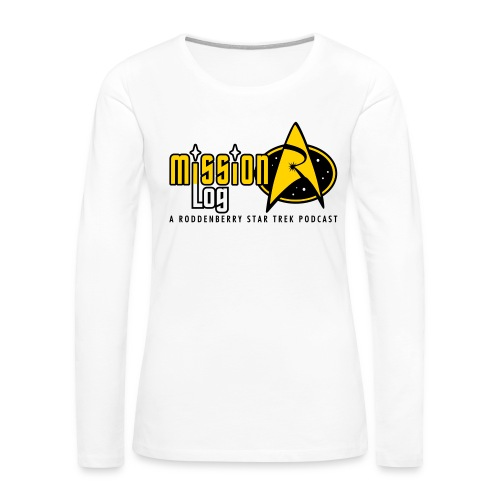 Logo Wide 2 Color Black Text - Women's Premium Slim Fit Long Sleeve T-Shirt
