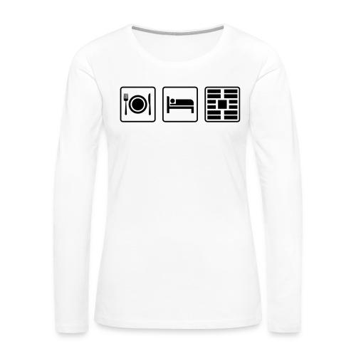 Eat Sleep Urb big fork - Women's Premium Slim Fit Long Sleeve T-Shirt