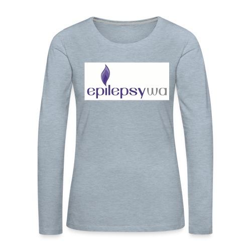 Epilepsy WA - Women's Premium Slim Fit Long Sleeve T-Shirt