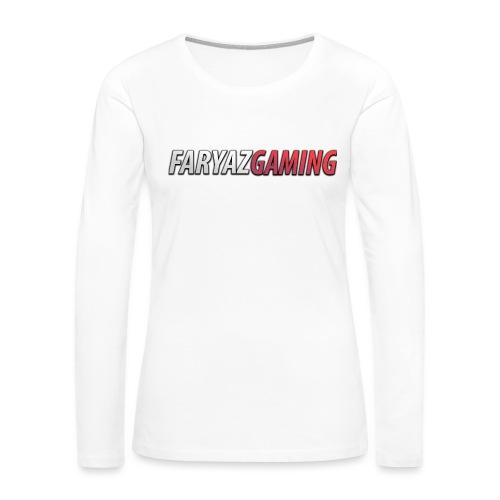 FaryazGaming Text - Women's Premium Slim Fit Long Sleeve T-Shirt