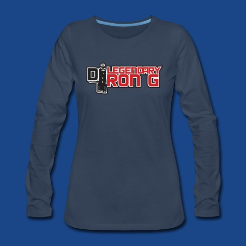 Ron G logo - Women's Premium Slim Fit Long Sleeve T-Shirt