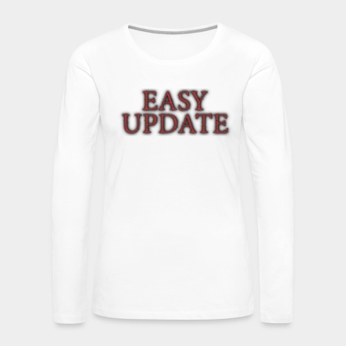 Easy Update Logo Red - Women's Premium Slim Fit Long Sleeve T-Shirt