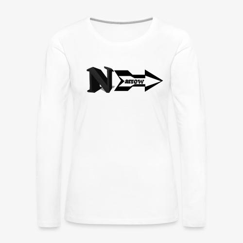 Narrow - Women's Premium Slim Fit Long Sleeve T-Shirt