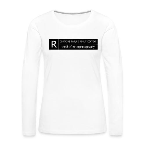 rated r - Women's Premium Long Sleeve T-Shirt