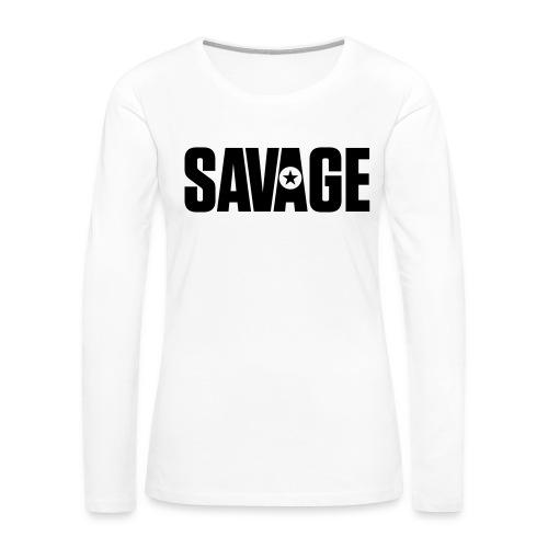 SAVAGE - Women's Premium Slim Fit Long Sleeve T-Shirt