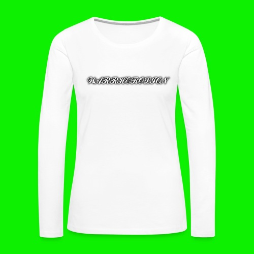 Warherolion plane text-gray - Women's Premium Long Sleeve T-Shirt